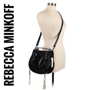Rebecca minkoff Black Leather saddle Crossbody